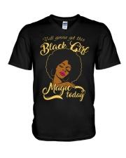 Black Girl  V-Neck T-Shirt thumbnail