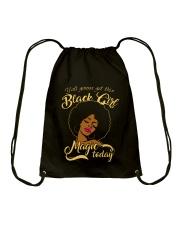 Black Girl  Drawstring Bag thumbnail