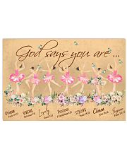 Ballet God Says You Are 36x24 Poster front