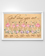 Ballet God Says You Are 36x24 Poster poster-landscape-36x24-lifestyle-02