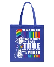 Today You Are You Tote Bag thumbnail