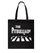 The pitbull lady Tote Bag tile