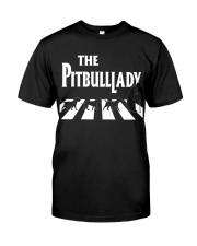 The pitbull lady Classic T-Shirt tile
