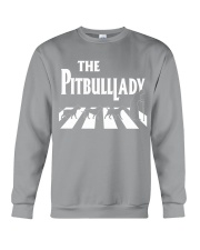 The pitbull lady Crewneck Sweatshirt tile