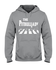 The pitbull lady Hooded Sweatshirt tile