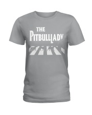 The pitbull lady Ladies T-Shirt tile