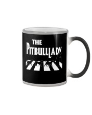 The pitbull lady Color Changing Mug tile