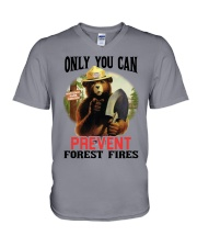 Only you can prevent forest fires V-Neck T-Shirt thumbnail