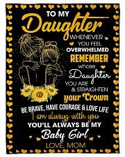 Family To My Daughter Fleece Blanket tile