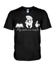 Labrador V-Neck T-Shirt tile