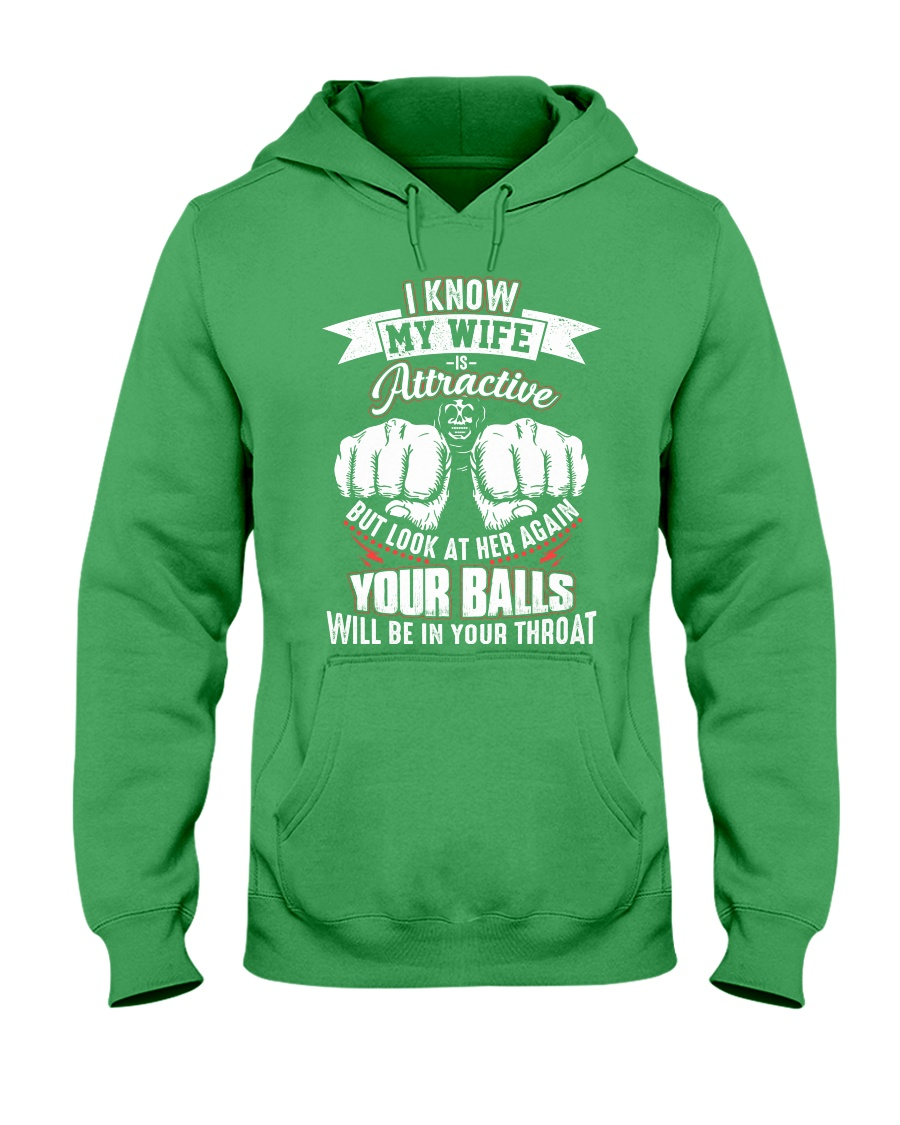 I know my wife Hooded Sweatshirt