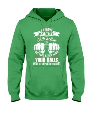 I know my wife Hooded Sweatshirt front