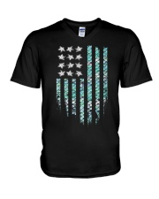 Mermaid Flag V-Neck T-Shirt thumbnail