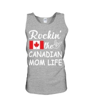 canadian mom life Unisex Tank tile