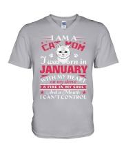 Cat mom V-Neck T-Shirt thumbnail
