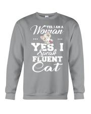 Yes I speak fluent  cat Crewneck Sweatshirt thumbnail