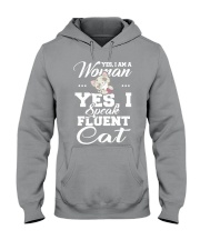 Yes I speak fluent  cat Hooded Sweatshirt thumbnail