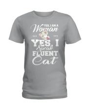 Yes I speak fluent  cat Ladies T-Shirt thumbnail