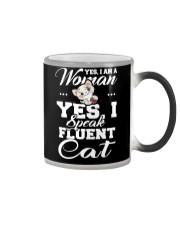 Yes I speak fluent  cat Color Changing Mug thumbnail