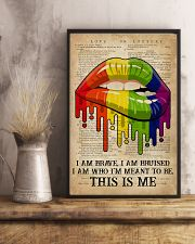 LGBT I Am Brave 16x24 Poster lifestyle-poster-3
