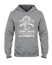 I need a time out send me to the beach Hooded Sweatshirt thumbnail
