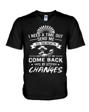 I need a time out send me to the beach V-Neck T-Shirt thumbnail