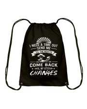 I need a time out send me to the beach Drawstring Bag thumbnail