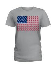 rabbit flag Ladies T-Shirt tile