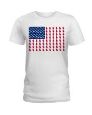 rabbit flag Ladies T-Shirt front