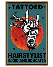Hairdresser Tattooed Hairstylist Inked Educated 16x24 Poster front