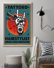 Hairdresser Tattooed Hairstylist Inked Educated 16x24 Poster lifestyle-poster-1