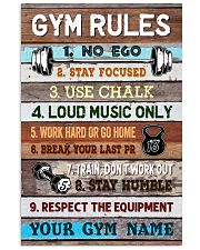 Gym Rules Vertical Poster tile