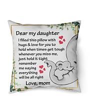 "Family Dear My Daughter Indoor Pillow - 16"" x 16"" thumbnail"