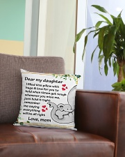 Family Dear My Daughter Square Pillowcase aos-pillow-square-front-lifestyle-03