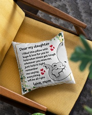 Family Dear My Daughter Square Pillowcase aos-pillow-square-front-lifestyle-07