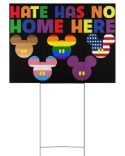 LGBT Hate Has No Home Here 24x18 Yard Sign back