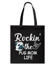 pug mom life Tote Bag thumbnail