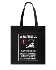 WARNING Tote Bag thumbnail