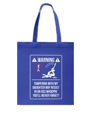 WARNING Tote Bag front