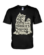 Life is better with yorkiefs around V-Neck T-Shirt thumbnail