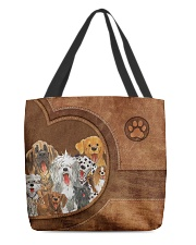 Dog Print All-over Tote back