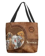 Dog Print All-over Tote front