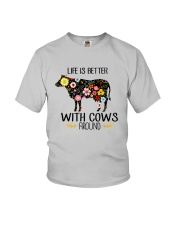 Farm Cow Life Is Better - Hoodie And T-shirt Youth T-Shirt thumbnail
