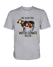 Farm Cow Life Is Better - Hoodie And T-shirt V-Neck T-Shirt thumbnail