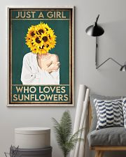 Garden Just A Girl Who Loves Sunflowers 16x24 Poster lifestyle-poster-1