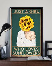 Garden Just A Girl Who Loves Sunflowers 16x24 Poster lifestyle-poster-2