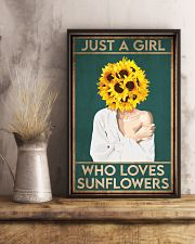 Garden Just A Girl Who Loves Sunflowers 16x24 Poster lifestyle-poster-3