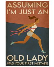 Running I'm Just An Old Lady 16x24 Poster front