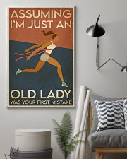 Running I'm Just An Old Lady 16x24 Poster lifestyle-poster-1