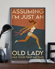 Running I'm Just An Old Lady 16x24 Poster lifestyle-poster-2